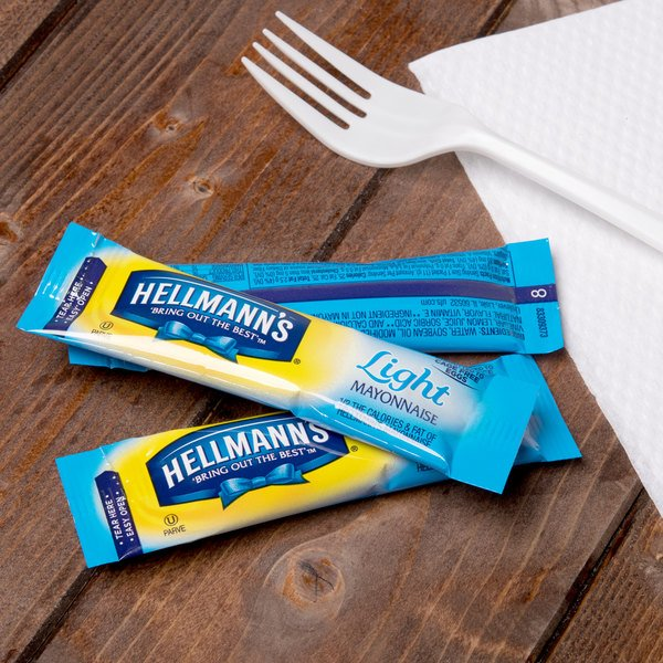 Hellmann's Light Mayonnaise - (210) 12 Gram Portion Packets / Case - 210/Case