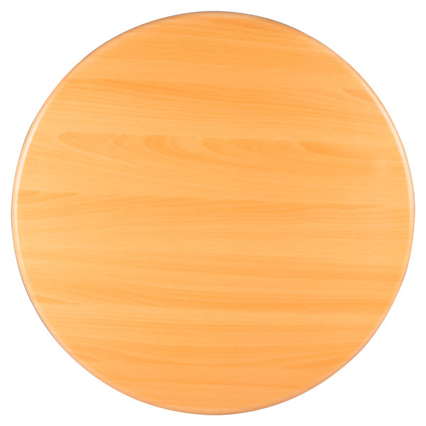"BFM Seating TTRSN30RNT Resin 30"" Round Indoor Tabletop - Natural"