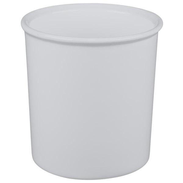 Tablecraft CW1680N 2.5 Qt. Natural Cast Aluminum Salad Dressing Bowl
