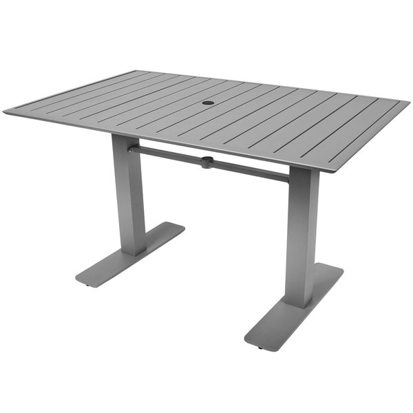 "BFM Seating DVS3248NTSU South Beach 32"" x 48"" Outdoor / Indoor Rectangular Tabletop and Table Base"