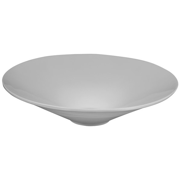 Tablecraft CW13090N 4.5 Qt. Natural Cast Aluminum Round Bowl with Rings