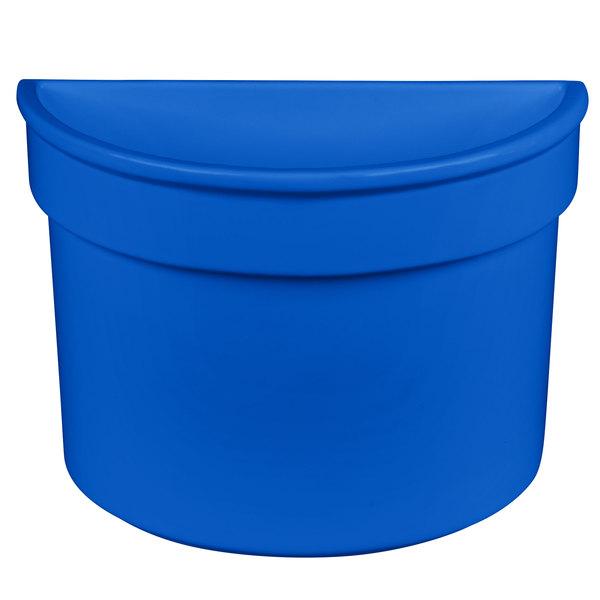 Tablecraft CW1312CBL 5 Qt. Blue Cast Aluminum Half Soup Bowl
