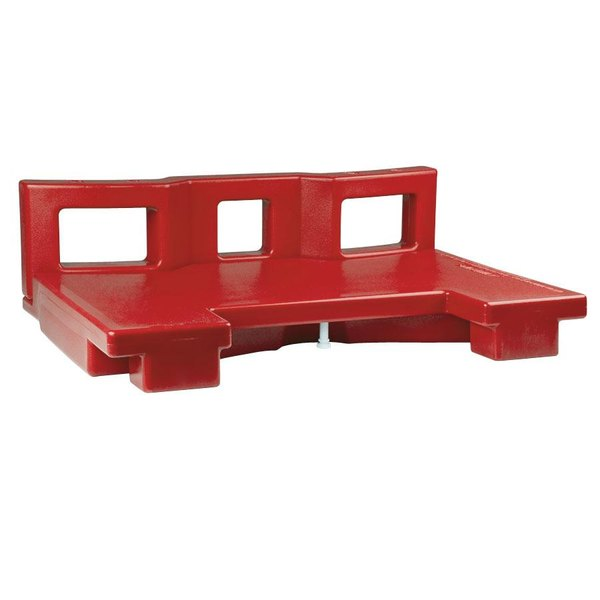 Cambro VCSCNL158 Hot Red Connector for Connecting Versa Carts to Low Height Versa Food Bars / Work Tables Main Image 1