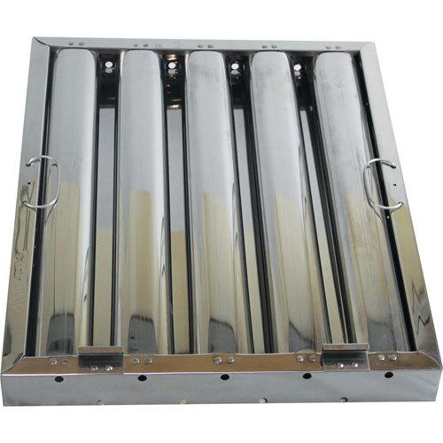 "FMP 129-2158 20""(H) x 16""(W) x 2""(T) Stainless Steel Hood Filter with Lower Bracket Hook - Kleen-Gard Main Image 1"