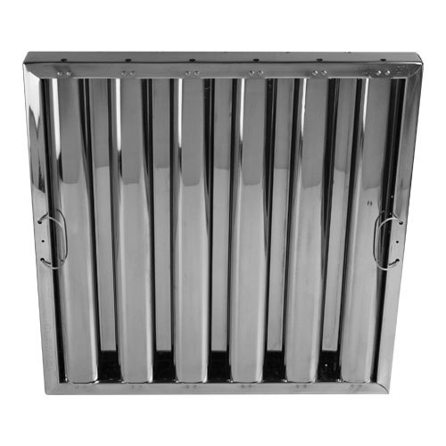 "Commercial Kitchen Exhaust Hood Filters: All Points 26-4589 16""(H) X 16""(W) X 2""(T) Stainless Steel"