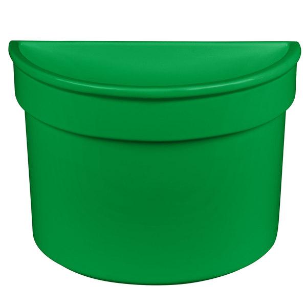 Tablecraft CW1312GN 5 Qt. Green Cast Aluminum Half Soup Bowl
