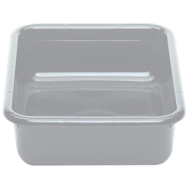 "Cambro 1520CBPF180 Poly Cambox 20"" x 15"" x 5"" Light Gray Polyethylene Bus Box with Flat Bottom"