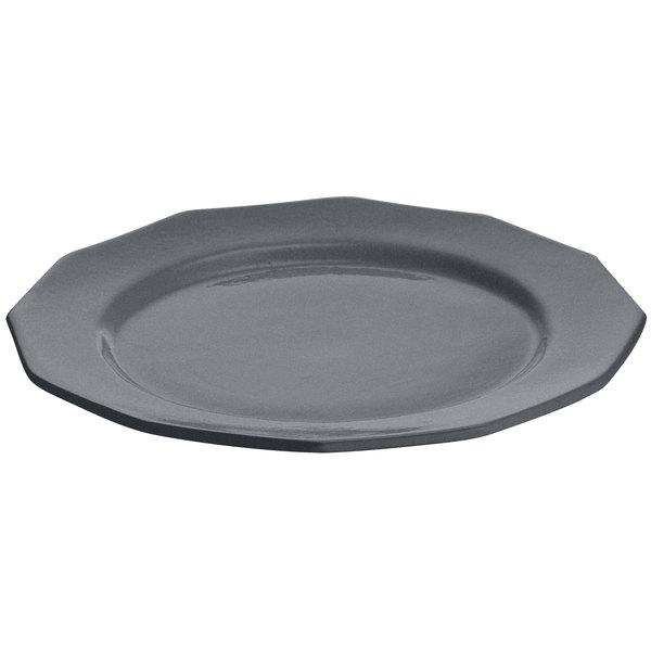 "Tablecraft CW1795GR 13"" Granite Cast Aluminum Round Prism Plate"