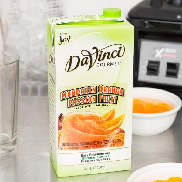 DaVinci Gourmet 64 oz. Mandarin Orange Passion Fruit Real Fruit Smoothie Mix Main Image 3