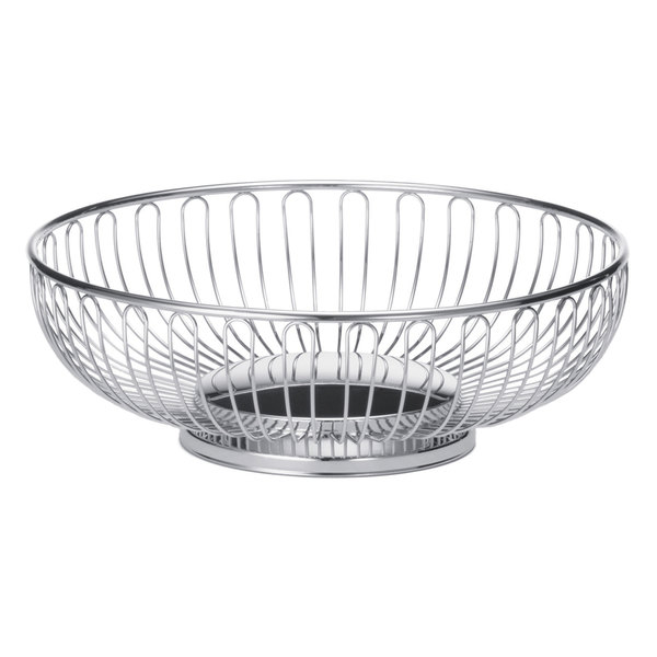 "Tablecraft 4174 Medium Oval Chrome Basket - 9"" x 6"" x 2 5/8"""