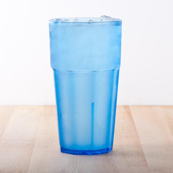 Diamond 14 oz. Blue Polycarbonate Tumbler - 12/Case