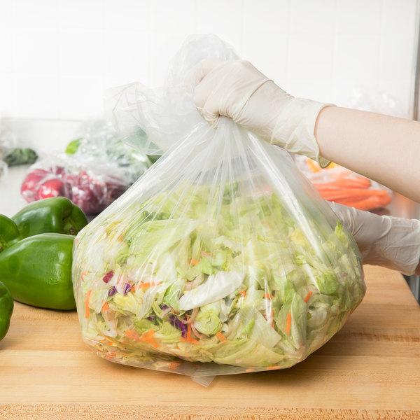 "Inteplast Group PB120830XXH 12"" x 8"" x 30"" Extra Heavy Plastic Food Bag - 500/Case"