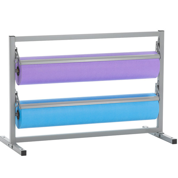 """Bulman T367R-20 20"""" Two Deck Tower Paper Rack with Straight Edge Blade"""