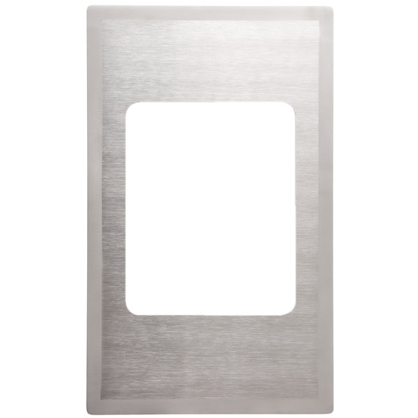Vollrath 8242816 Miramar Stainless Steel Adapter Plate with Satin Finish Edge for Small Food Pan