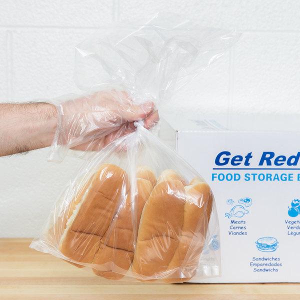 "Inteplast Group PB100420 10"" x 4"" x 20"" Heavy Duty Plastic Food Bag - 1000/Case"