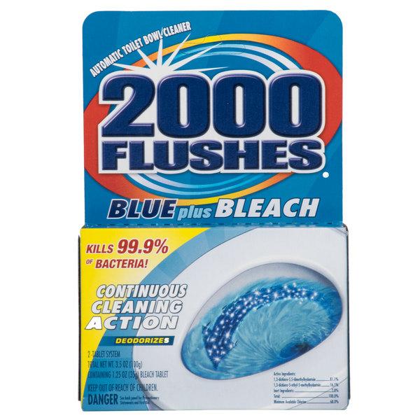 2000 Flushes 208017 Blue Plus Bleach Automatic Toilet Bowl Cleaner - 12/Case