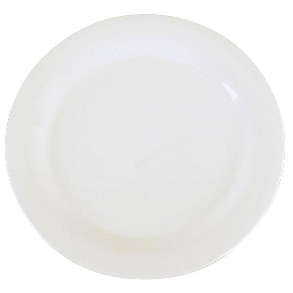 "Carlisle 3300202 Sierrus 10 1/2"" White Narrow Rim Melamine Plate - 12/Case"