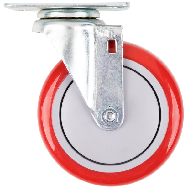 """5"""" Swivel Plate Caster for Winholt Holding / Proofing Cabinets, CR162M Can Rack and Large Design X-Frame Carts"""