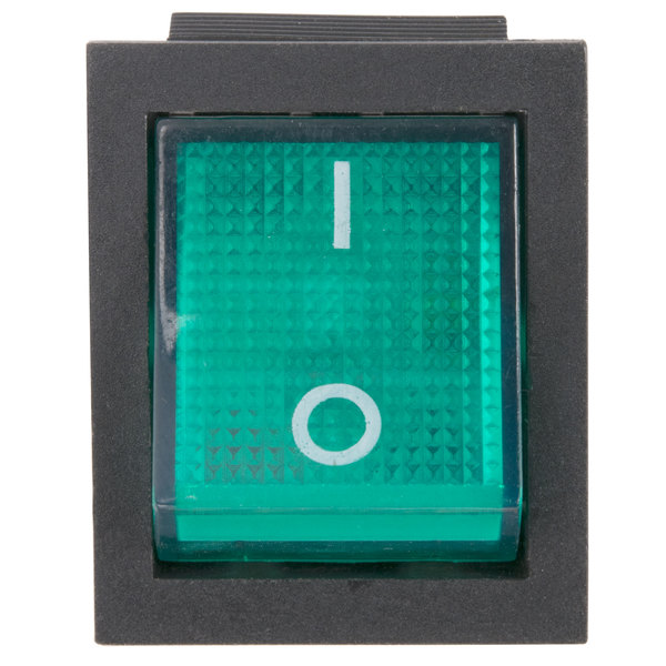 Avantco 17810364 Green Replacement On / Off and Light Switch - Old Style Main Image 1