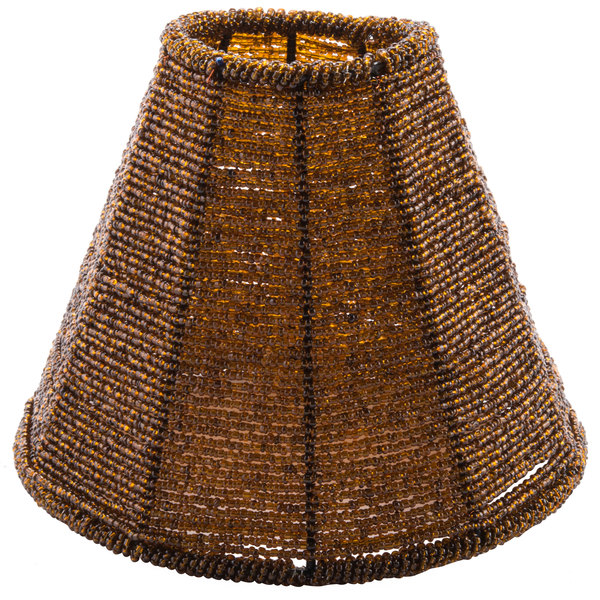 Sterno products 85428 amber beaded lamp shade aloadofball Images