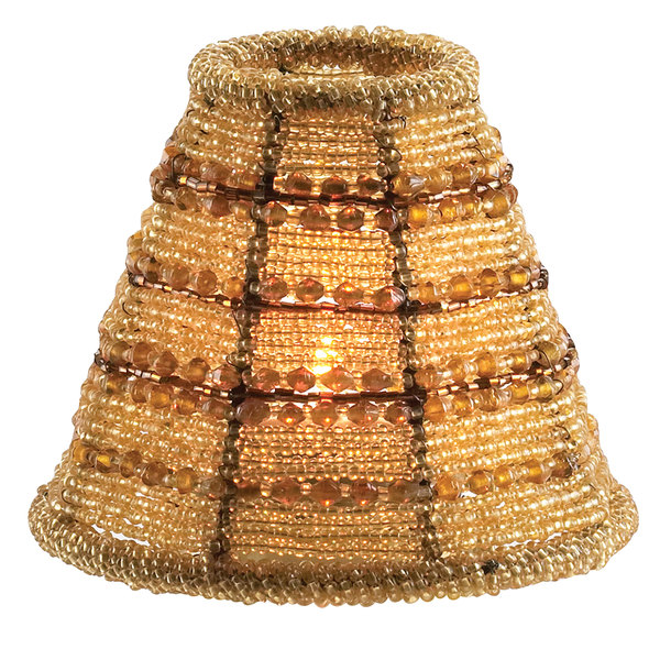Sterno products 85466 petite amber beaded lamp shade aloadofball Gallery