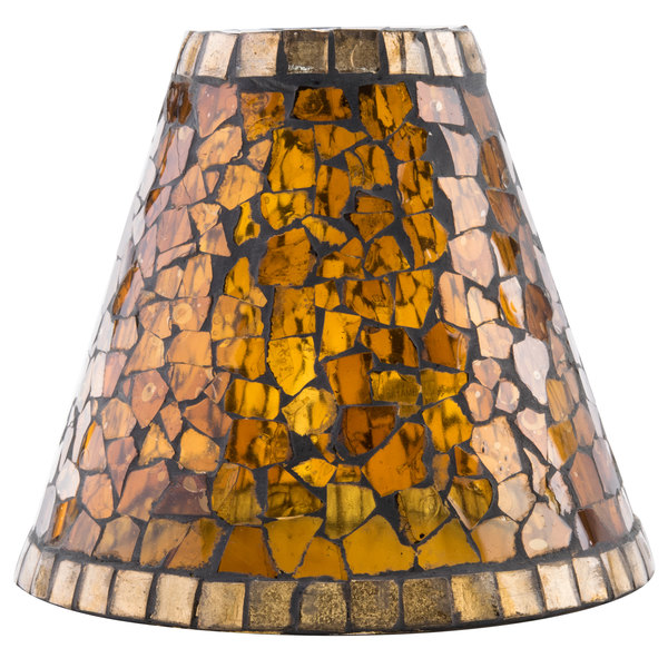 Sterno products 85426 amber mosaic lamp shade aloadofball Images