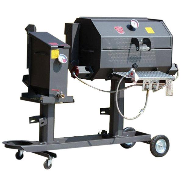 "R & V Works Cajun FF2S Fryer and 20"" Grill Combo - 135,000 BTU, LP"