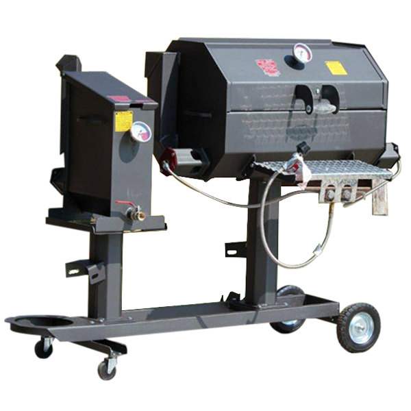 "R & V Works Cajun FF1 Fryer and 30"" Grill Combo - 180,000 BTU, LP"