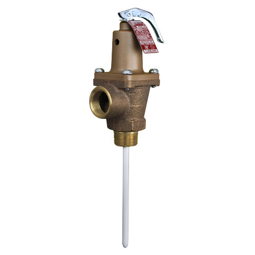 "All Points 56-1081 Cast Iron 3/4"" NPT Pressure and Temperature Relief Valve - 150 PSI Main Image 1"