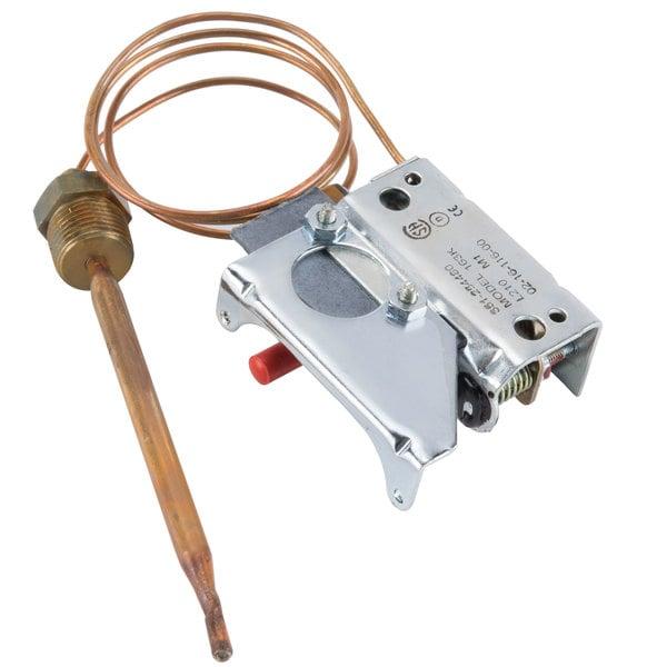 "Hatco 02.16.116 Equivalent Booster Heater Hi-Limit Thermostat Control; Temperature: 210 Degrees Fahrenheit; 20"" Capillary Main Image 1"