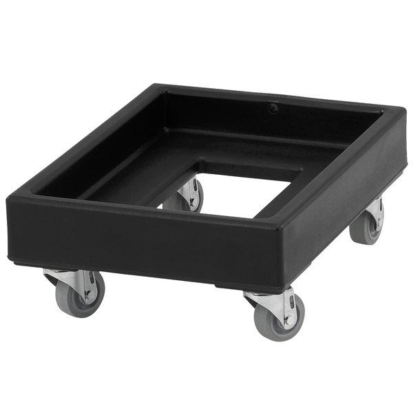 Cambro CD1420110 350 lb. Black Camdolly Milk Crate Dolly