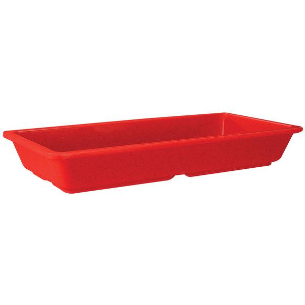 "GET ML-121-RSP Red Sensation 9 1/4"" x 4 3/4"" x 1"" Rectangular Entree Dish - 12/Case"