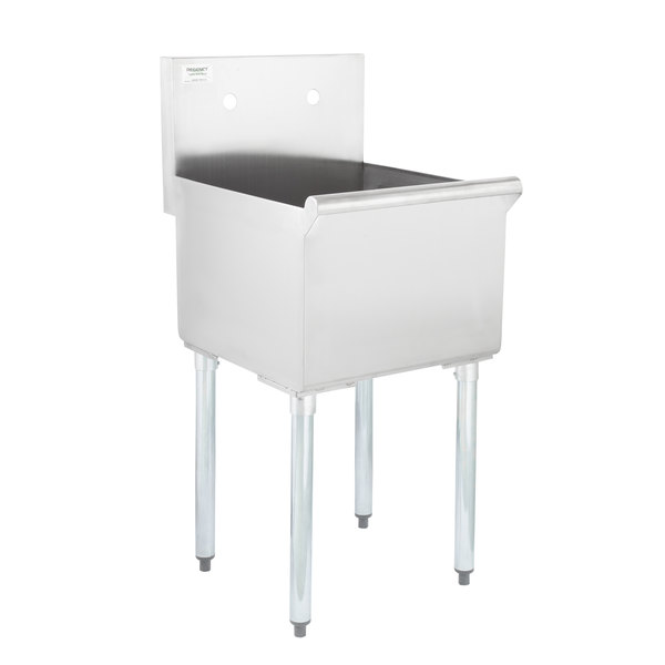 Utility Sink.Regency 18 16 Gauge Stainless Steel One Compartment Commercial Utility Sink 18 X 18 X 13 Bowl