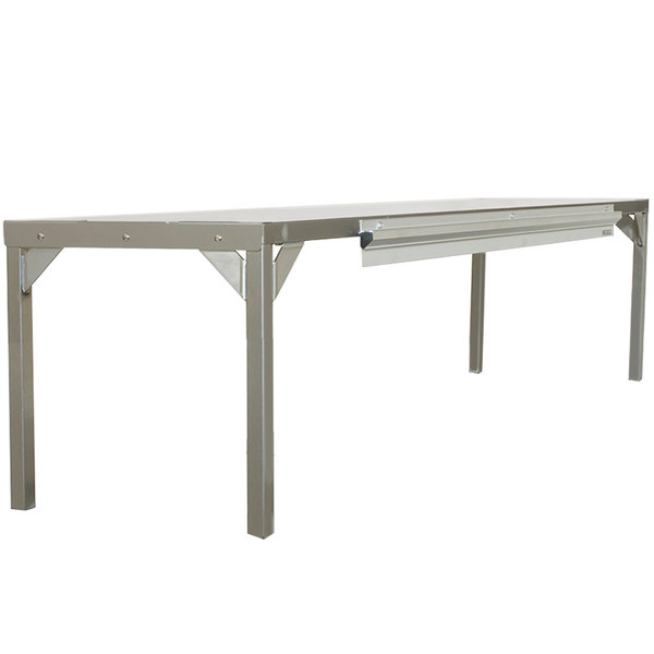 """Delfield AS000-AQS-003Y Stainless Steel Single Overshelf - 48"""" x 16"""" Main Image 1"""