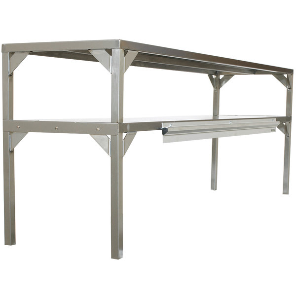 """Delfield AS000DAQS-003R Stainless Steel Double Overshelf - 32"""" x 16"""" Main Image 1"""