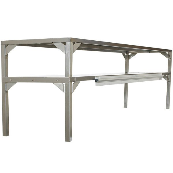 "Delfield AS000DAQS-003U Stainless Steel Double Overshelf - 64"" x 16"" Main Image 1"