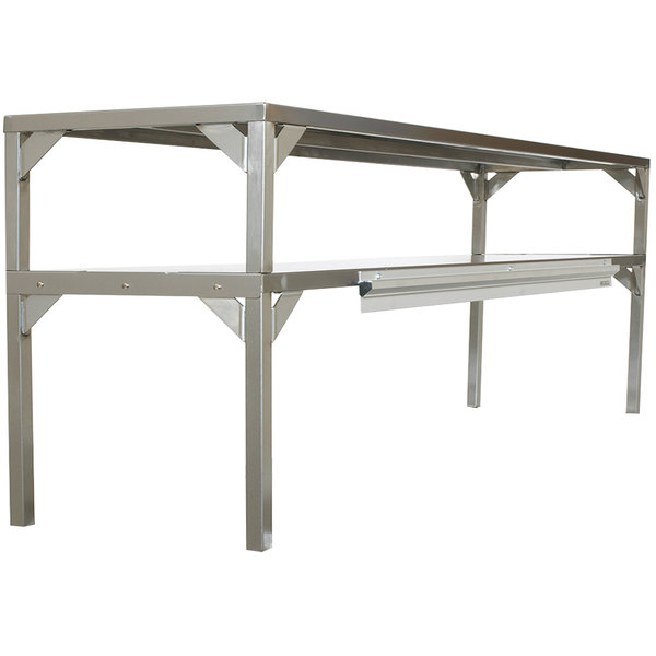 """Delfield AS000-B3P-DT2 Stainless Steel Double Overshelf - 48"""" x 16"""""""