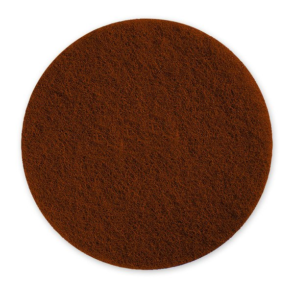 """Scrubble by ACS 71-6 1/2 6 1/2"""" Brown Stripping Floor Pad - Type 71 - 10/Case"""