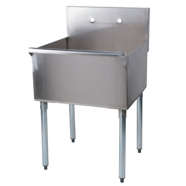 regency 24 16 gauge stainless steel one compartment commercial utility sink 24 x 24 x 14 bowl - Stainless Utility Sink