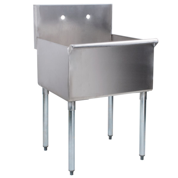 """Regency 24"""" 16-Gauge Stainless Steel One Compartment Commercial Utility Sink - 24"""" x 24"""" x 14"""" Bowl Main Image 1"""