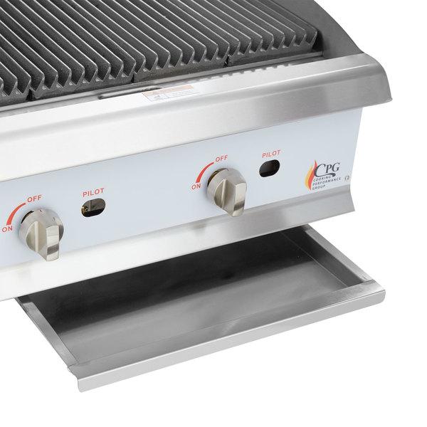 Innovative Cooking Performance Group CBL24 24u0026quot; Gas Lava Rock Charbroiler - 80000 BTU