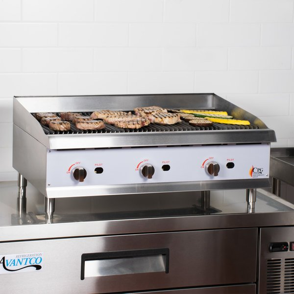 """Cooking Performance Group CBR36 36"""" Gas Countertop Radiant Charbroiler - 120,000 BTU Main Image 5"""