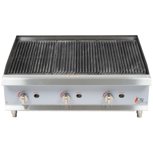 Cooking Performance Group CBR36 36 inch Gas Radiant Charbroiler - 120,000 BTU