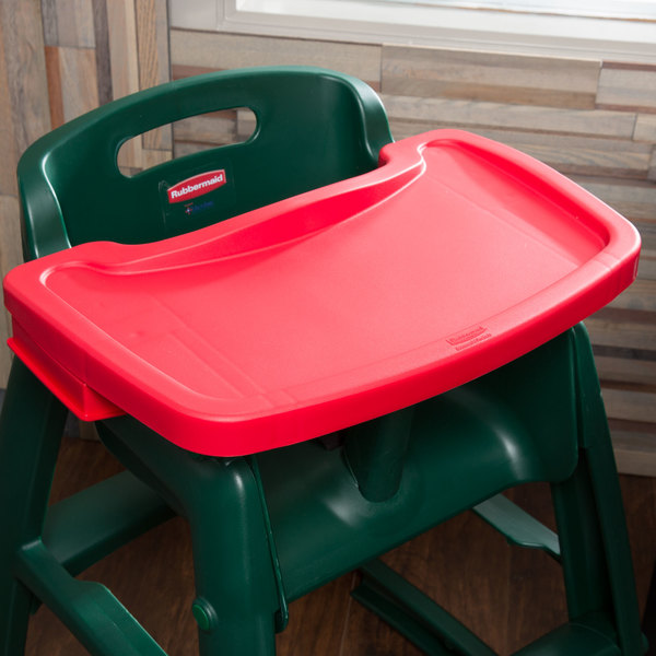 Rubbermaid FG781588RED Red Restaurant High Chair Tray Main Image 7