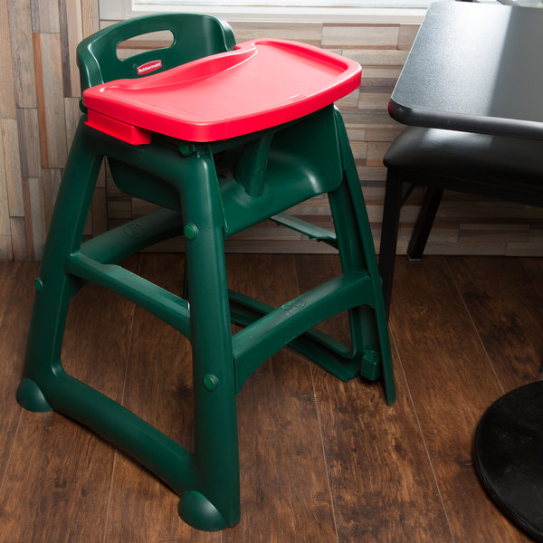 Red Rubbermaid Sturdy Baby Chair Tray