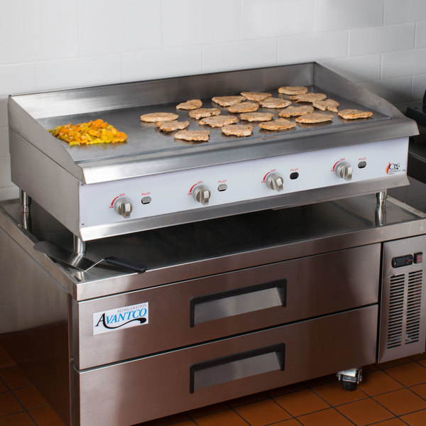 """Cooking Performance Group G48 48"""" Gas Countertop Griddle with Manual Controls - 120,000 BTU"""
