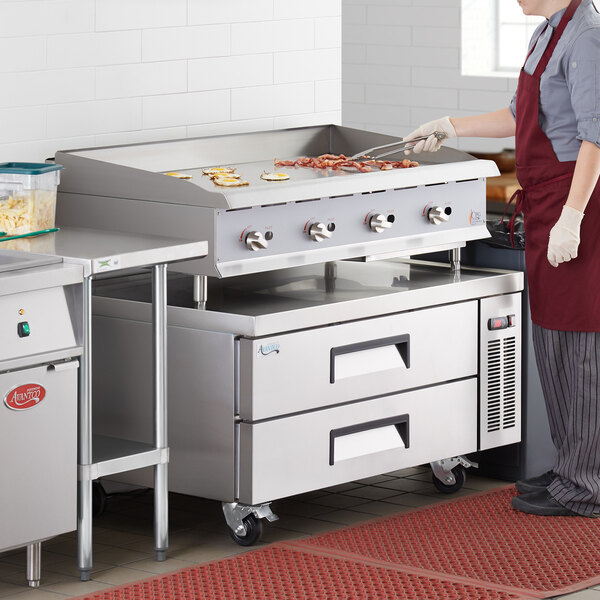 """Cooking Performance Group G48 48"""" Gas Countertop Griddle with Manual Controls - 120,000 BTU Main Image 5"""