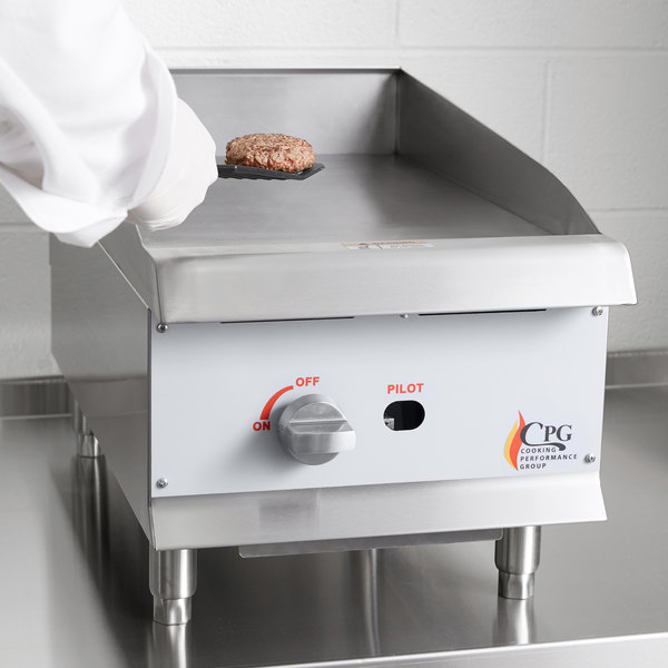 """Cooking Performance Group G15 15"""" Gas Countertop Griddle with Manual Controls - 30,000 BTU Main Image 5"""