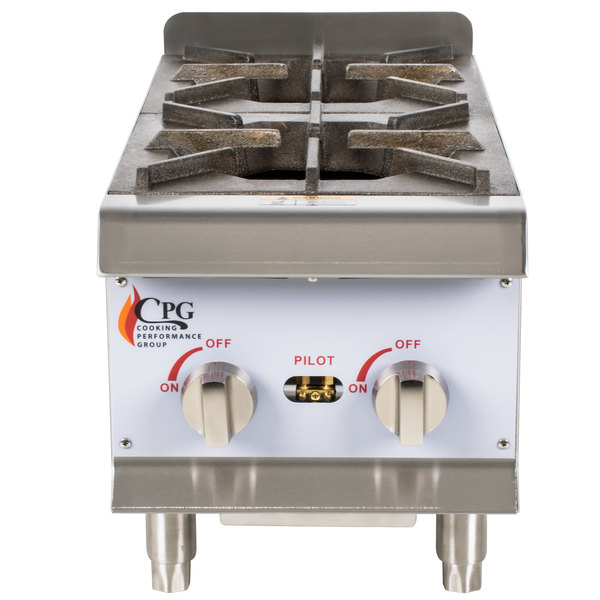 Cooking Performance Group HP212 2 Burner Gas Countertop Hot Plate - 44,000 BTU