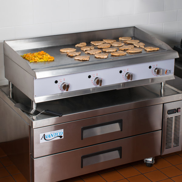 """Cooking Performance Group G48T 48"""" Gas Countertop Griddle with Thermostatic Controls - 120,000 BTU"""